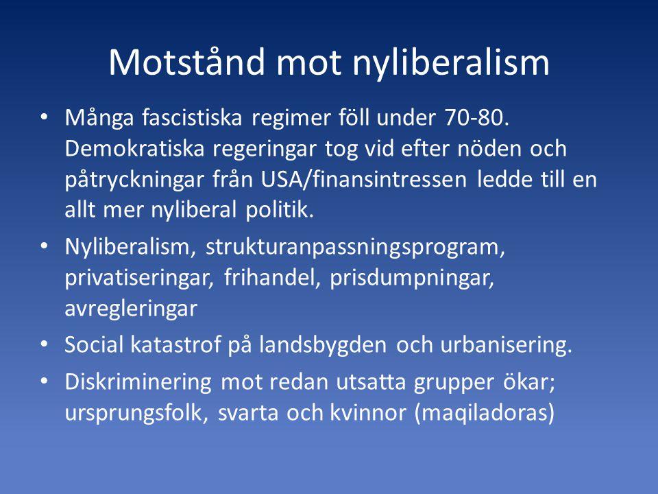 Motstånd mot nyliberalism
