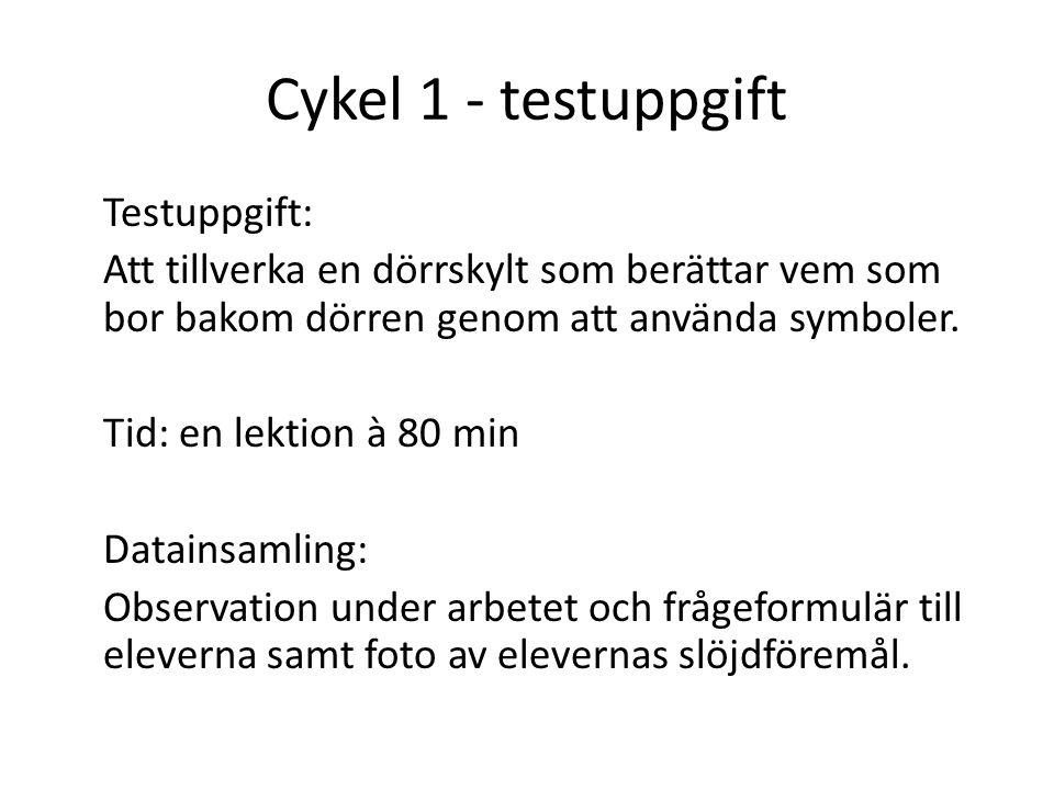 Cykel 1 - testuppgift