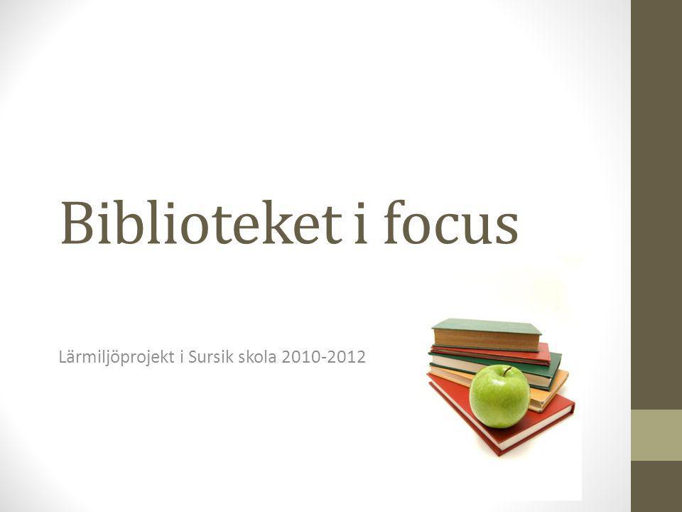 Lärmiljöprojekt i Sursik skola 2010-2012