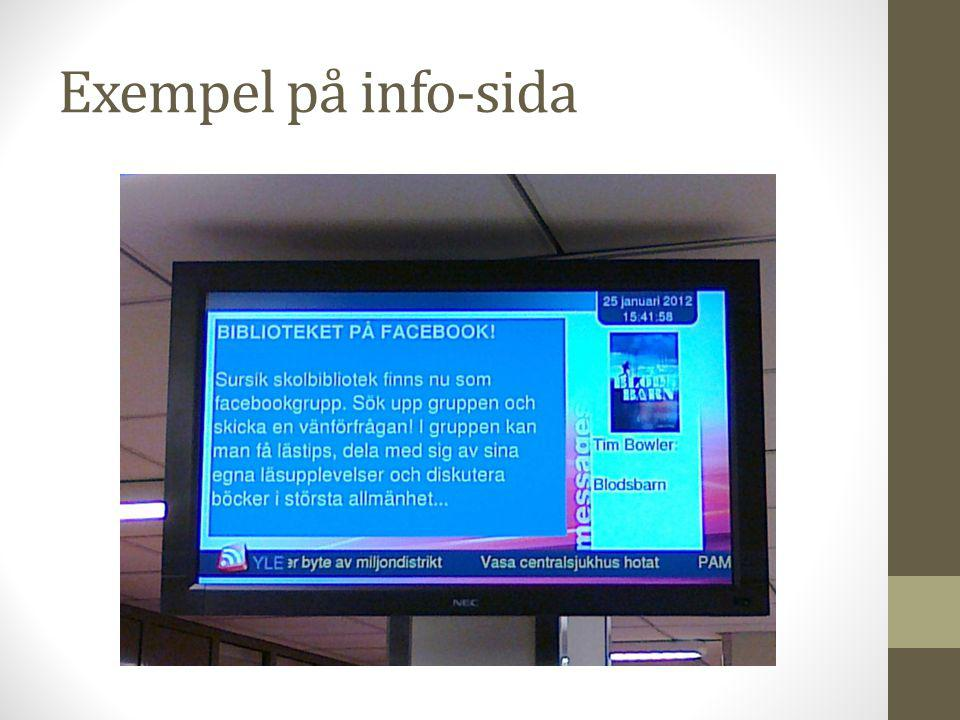 Exempel på info-sida