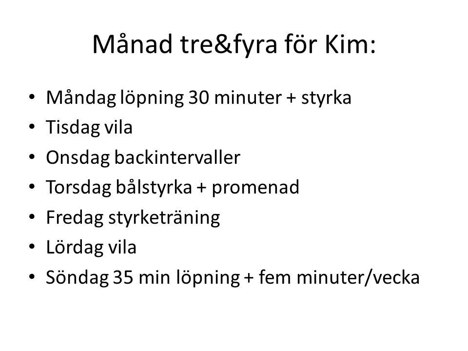 Månad tre&fyra för Kim:
