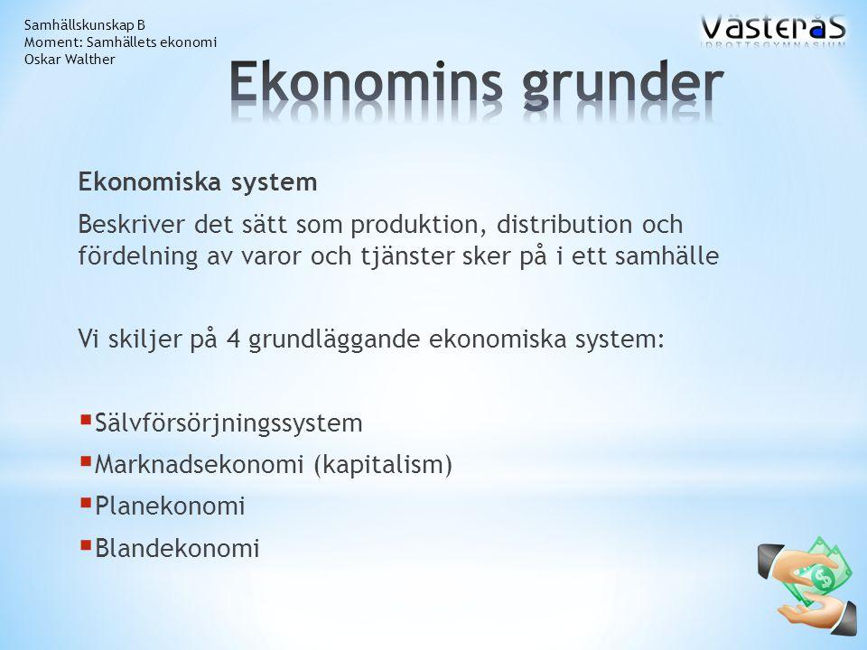 Ekonomins grunder Ekonomiska system