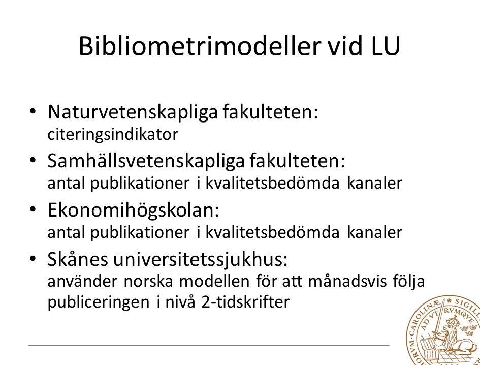 Bibliometrimodeller vid LU