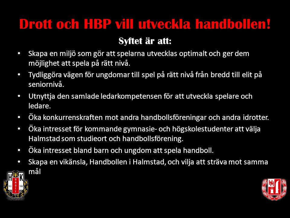 Drott och HBP vill utveckla handbollen!