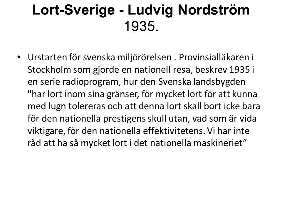 Lort-Sverige - Ludvig Nordström 1935.