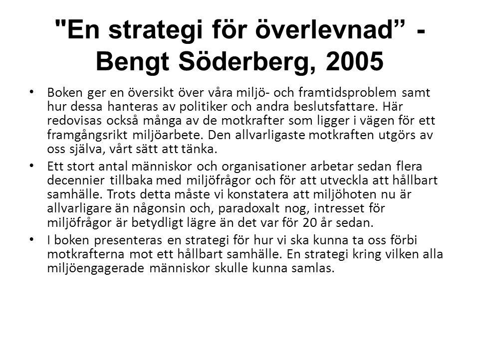 En strategi för överlevnad - Bengt Söderberg, 2005