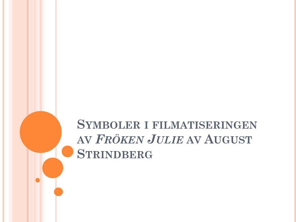 Symboler i filmatiseringen av Fröken Julie av August Strindberg