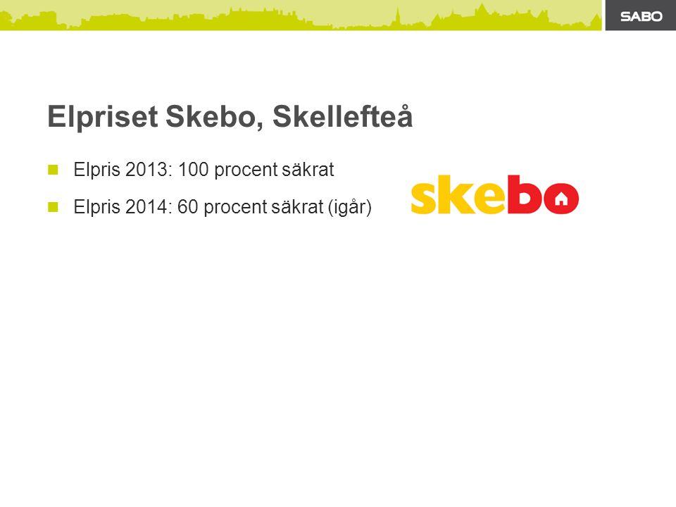 Elpriset Skebo, Skellefteå