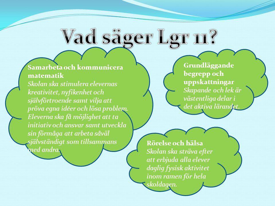 Vad säger Lgr 11 Grundläggande begrepp och uppskattningar