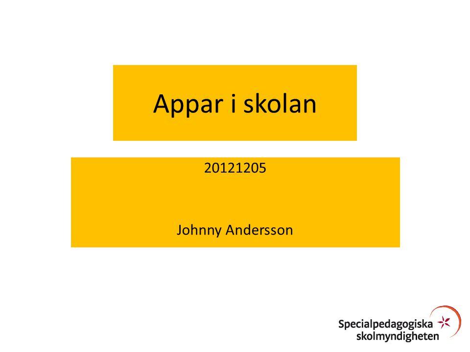 Appar i skolan 20121205 Johnny Andersson