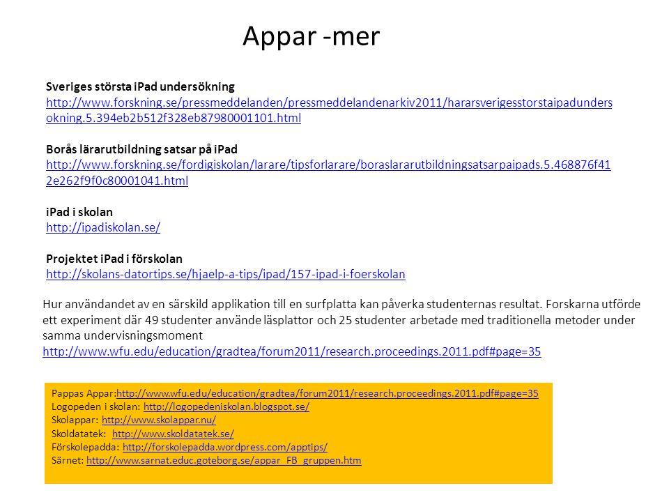 Appar -mer Sveriges största iPad undersökning