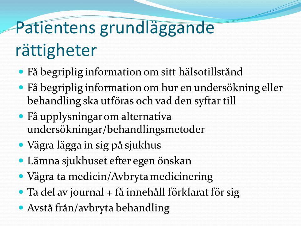 Patientens grundläggande rättigheter