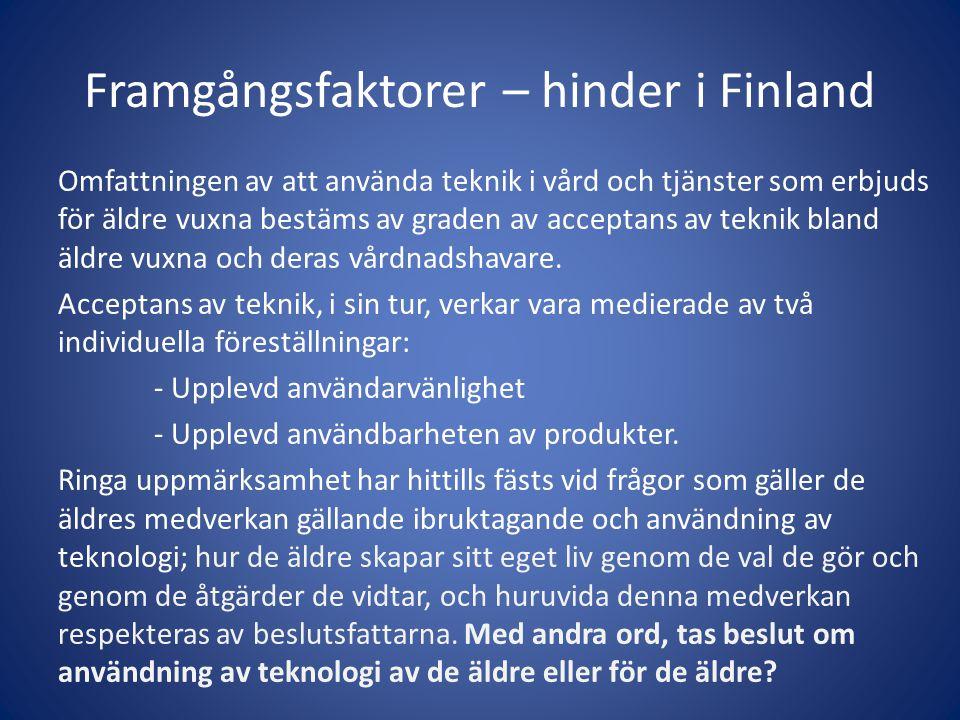 Framgångsfaktorer – hinder i Finland
