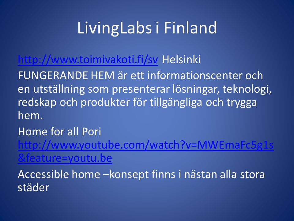 LivingLabs i Finland
