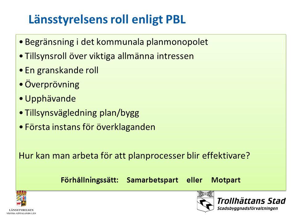 Länsstyrelsens roll enligt PBL