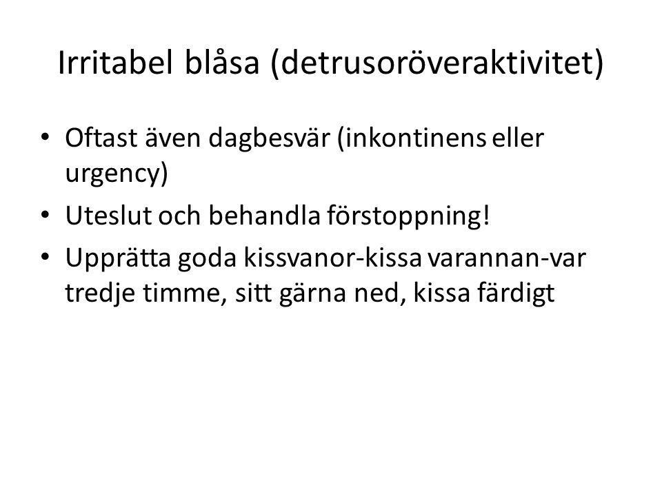 Irritabel blåsa (detrusoröveraktivitet)