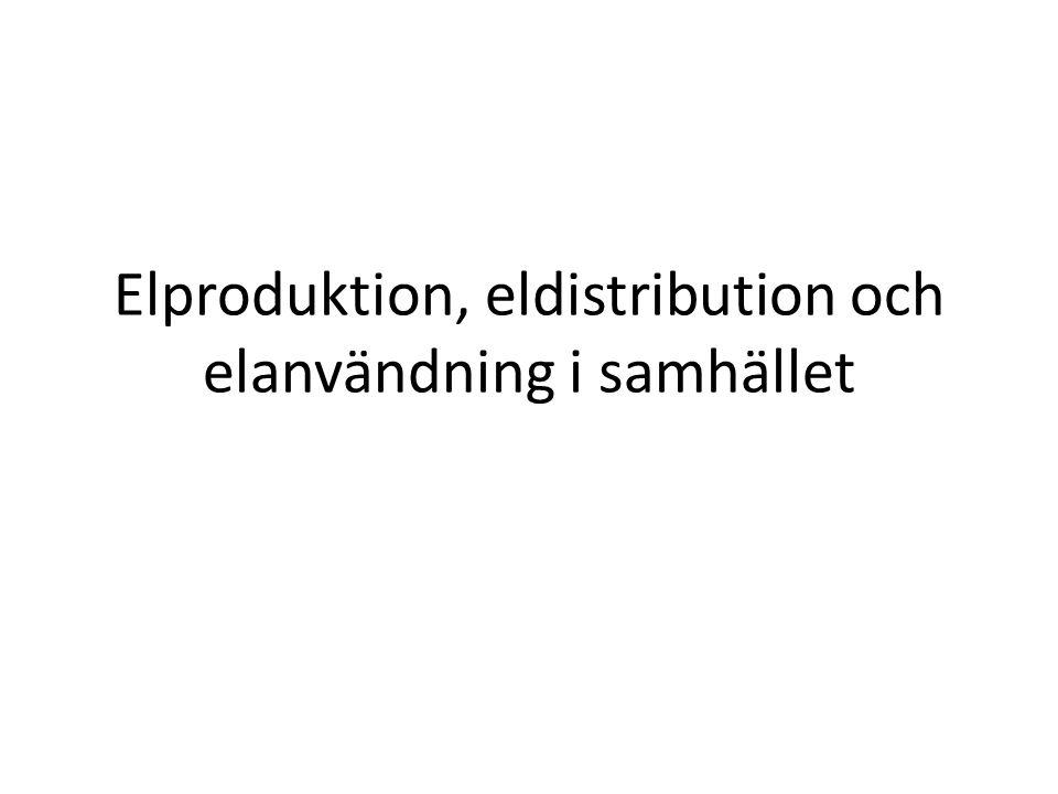 Elproduktion, eldistribution och elanvändning i samhället