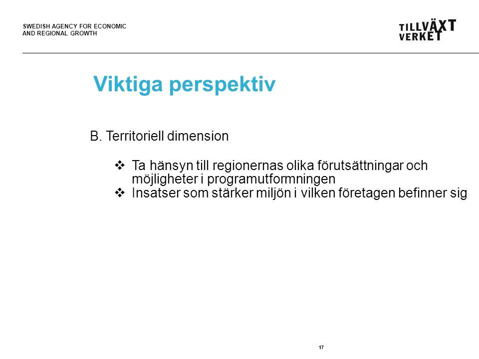 Viktiga perspektiv B. Territoriell dimension