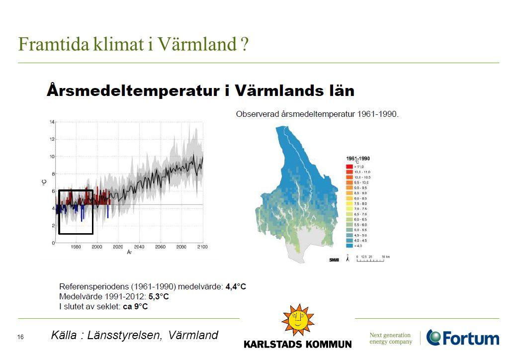 Framtida klimat i Värmland