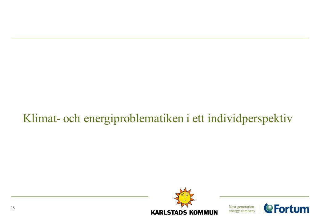 Klimat- och energiproblematiken i ett individperspektiv