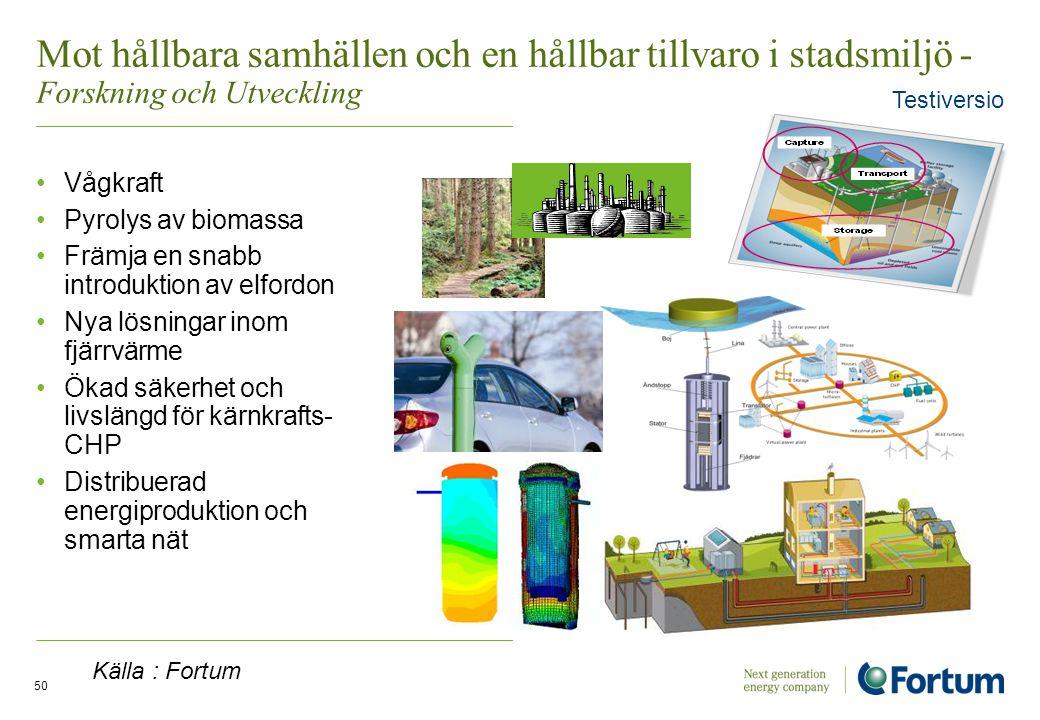 Mot hållbara samhällen och en hållbar tillvaro i stadsmiljö - Forskning och Utveckling