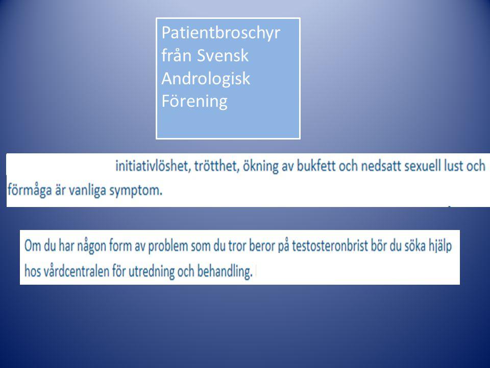 Patientbroschyr från Svensk Andrologisk Förening