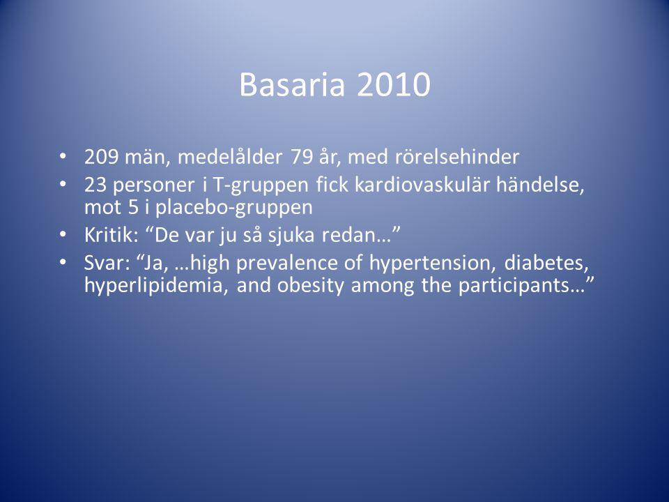 Basaria 2010 209 män, medelålder 79 år, med rörelsehinder