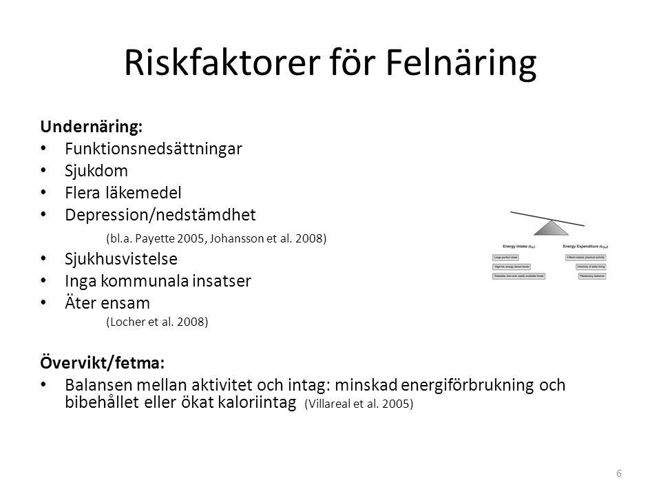Riskfaktorer för Felnäring