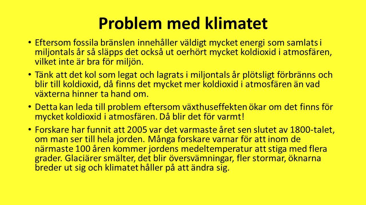 Problem med klimatet