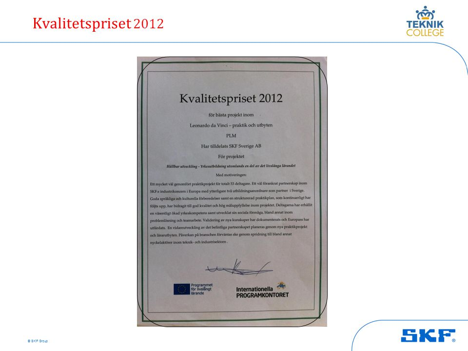 Kvalitetspriset 2012