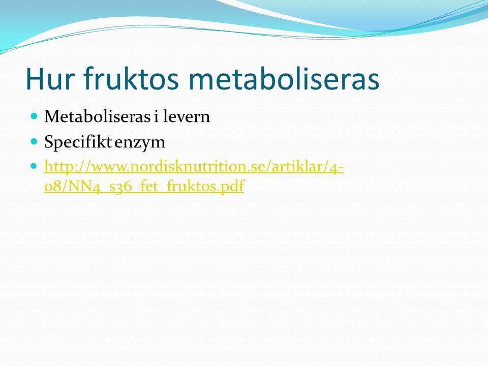 Hur fruktos metaboliseras