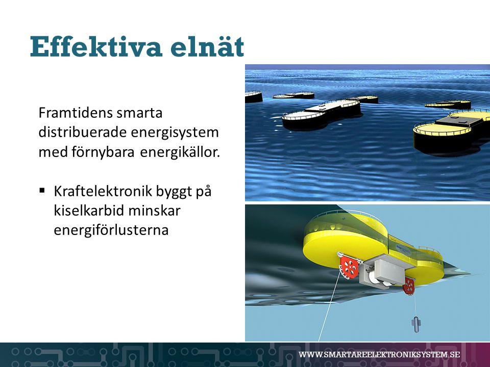Effektiva elnät Framtidens smarta distribuerade energisystem med förnybara energikällor.