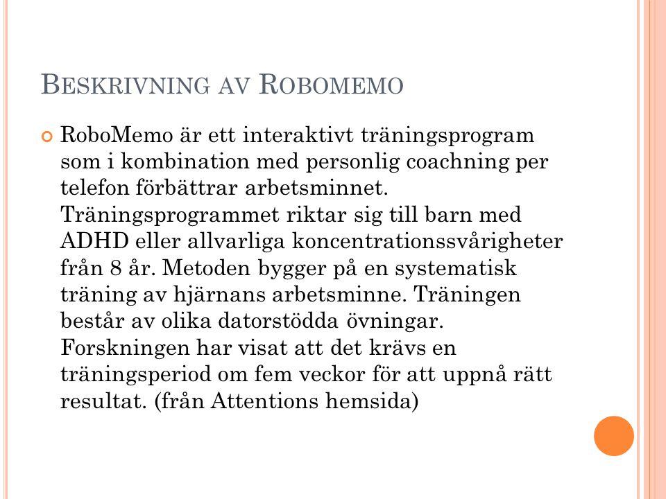 Beskrivning av Robomemo