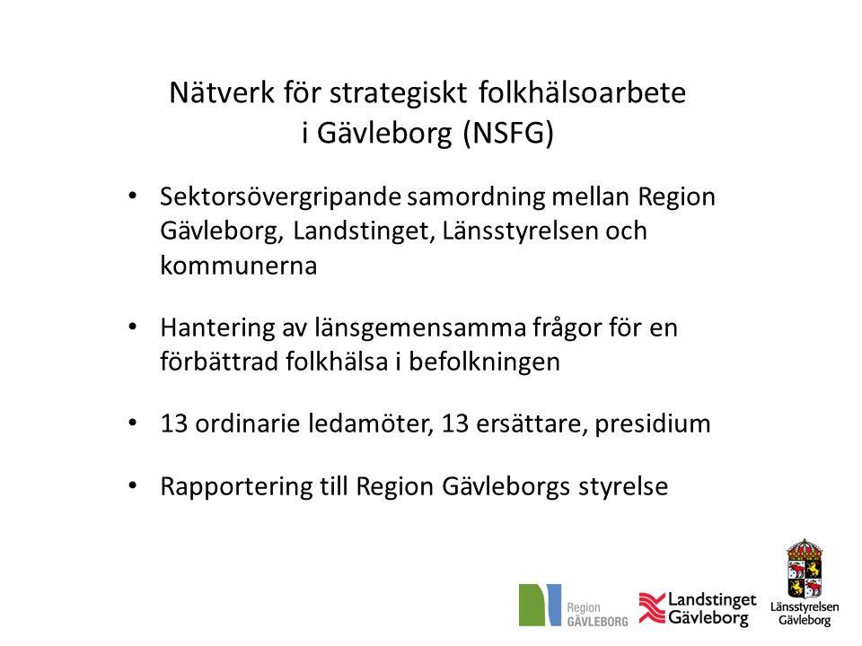 Nätverk för strategiskt folkhälsoarbete i Gävleborg (NSFG)