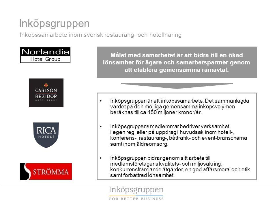 Inköpsgruppen Inköpssamarbete inom svensk restaurang- och hotellnäring