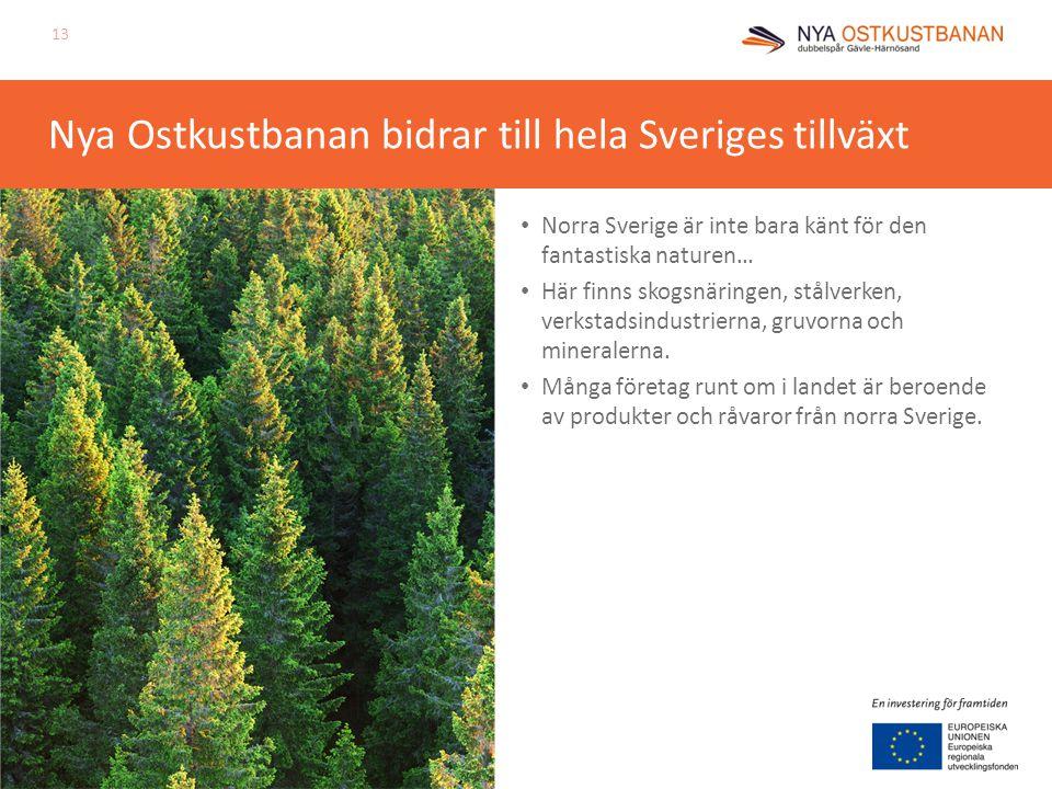 Nya Ostkustbanan bidrar till hela Sveriges tillväxt