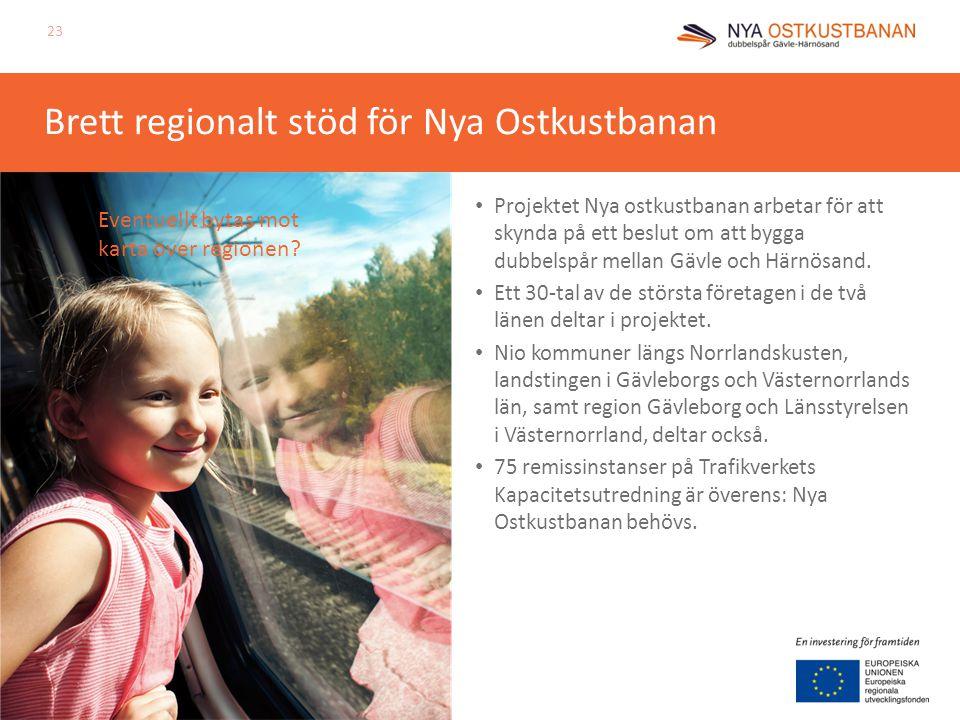 Brett regionalt stöd för Nya Ostkustbanan