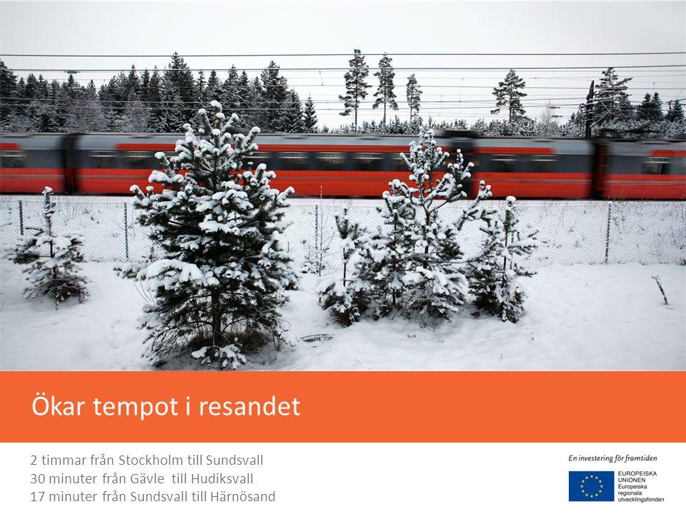 Ökar tempot i resandet 2 timmar från Stockholm till Sundsvall