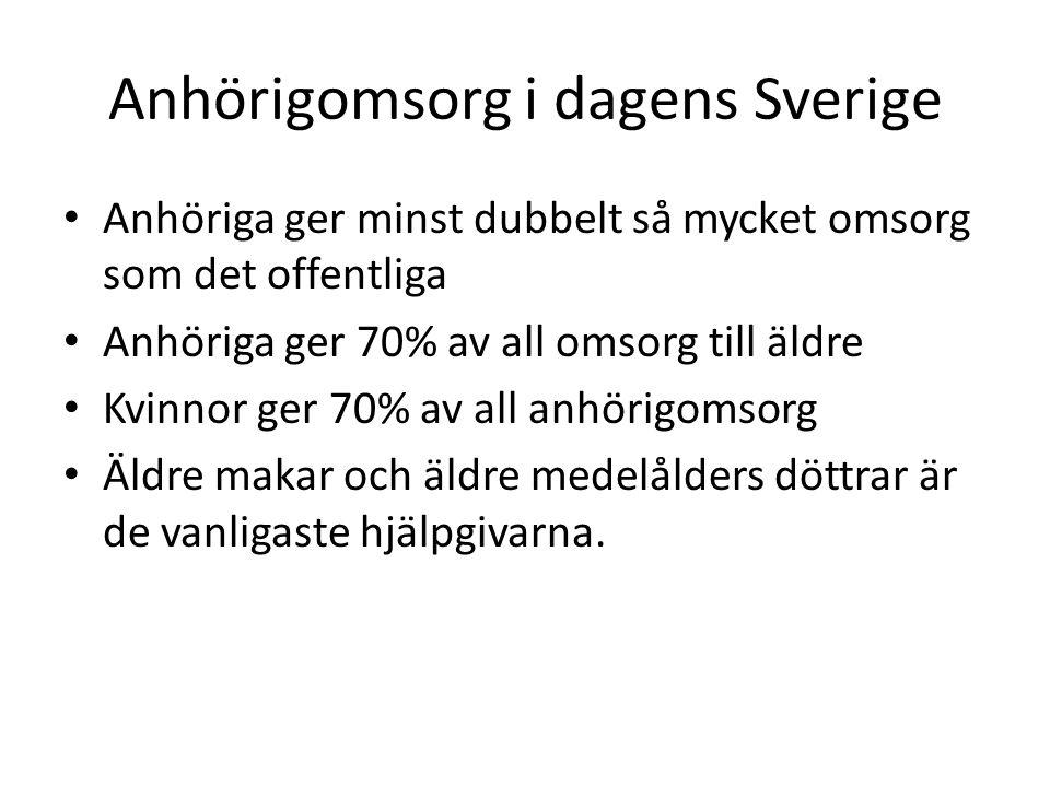 Anhörigomsorg i dagens Sverige