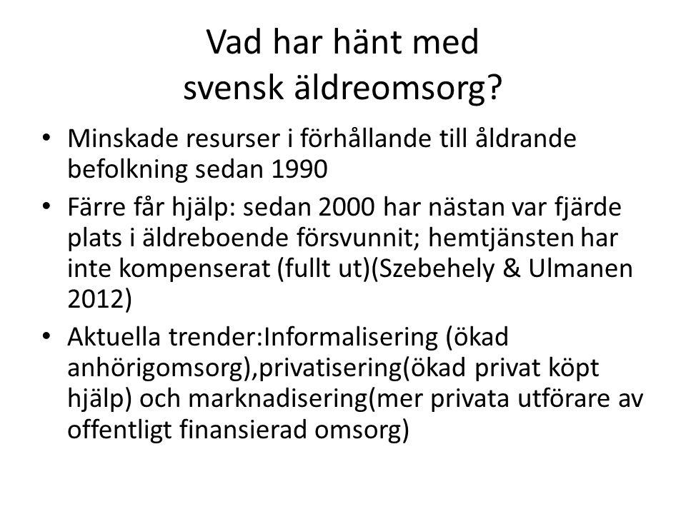 Vad har hänt med svensk äldreomsorg