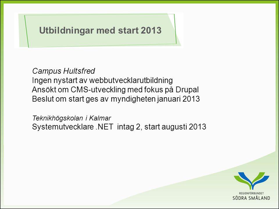 Utbildningar med start 2013