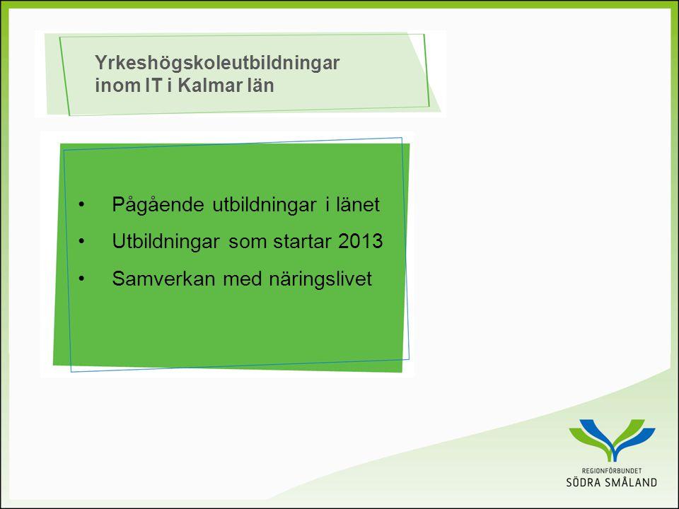 Yrkeshögskoleutbildningar inom IT i Kalmar län