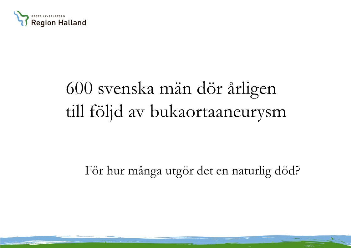 600 svenska män dör årligen till följd av bukaortaaneurysm