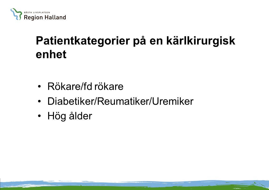 Patientkategorier på en kärlkirurgisk enhet