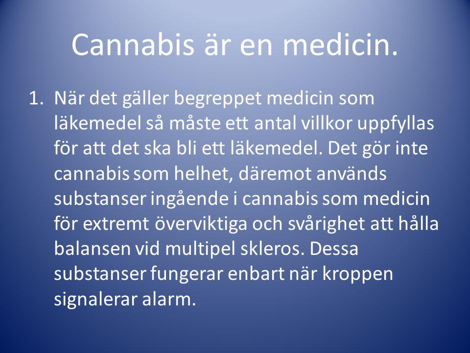 Cannabis är en medicin.