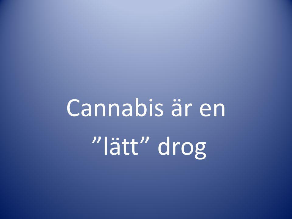 Cannabis är en lätt drog