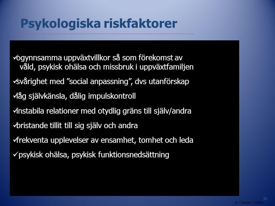 Psykologiska riskfaktorer