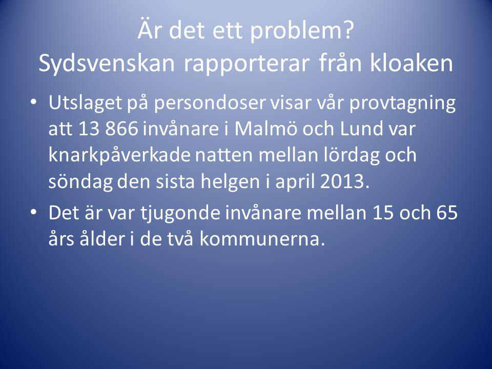 Är det ett problem Sydsvenskan rapporterar från kloaken