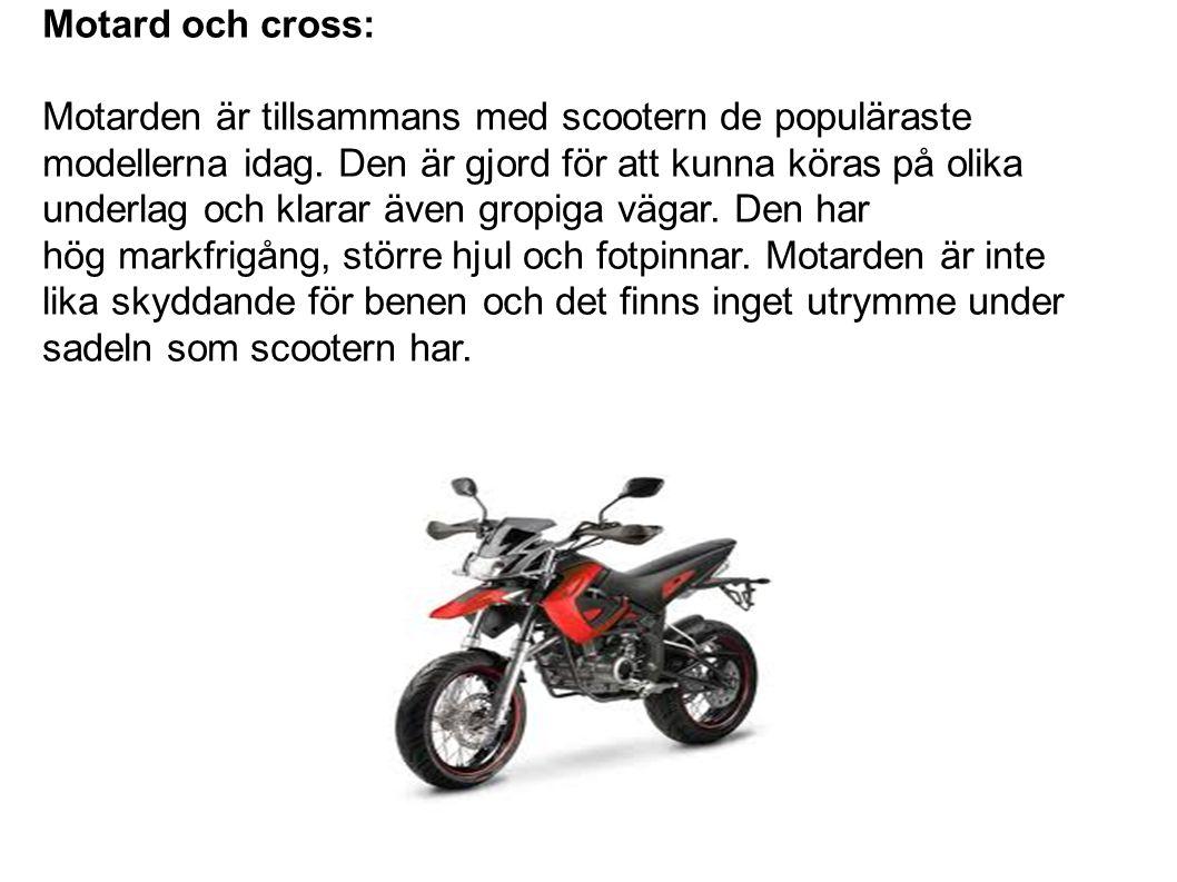 Motard och cross: Motarden är tillsammans med scootern de populäraste modellerna idag.