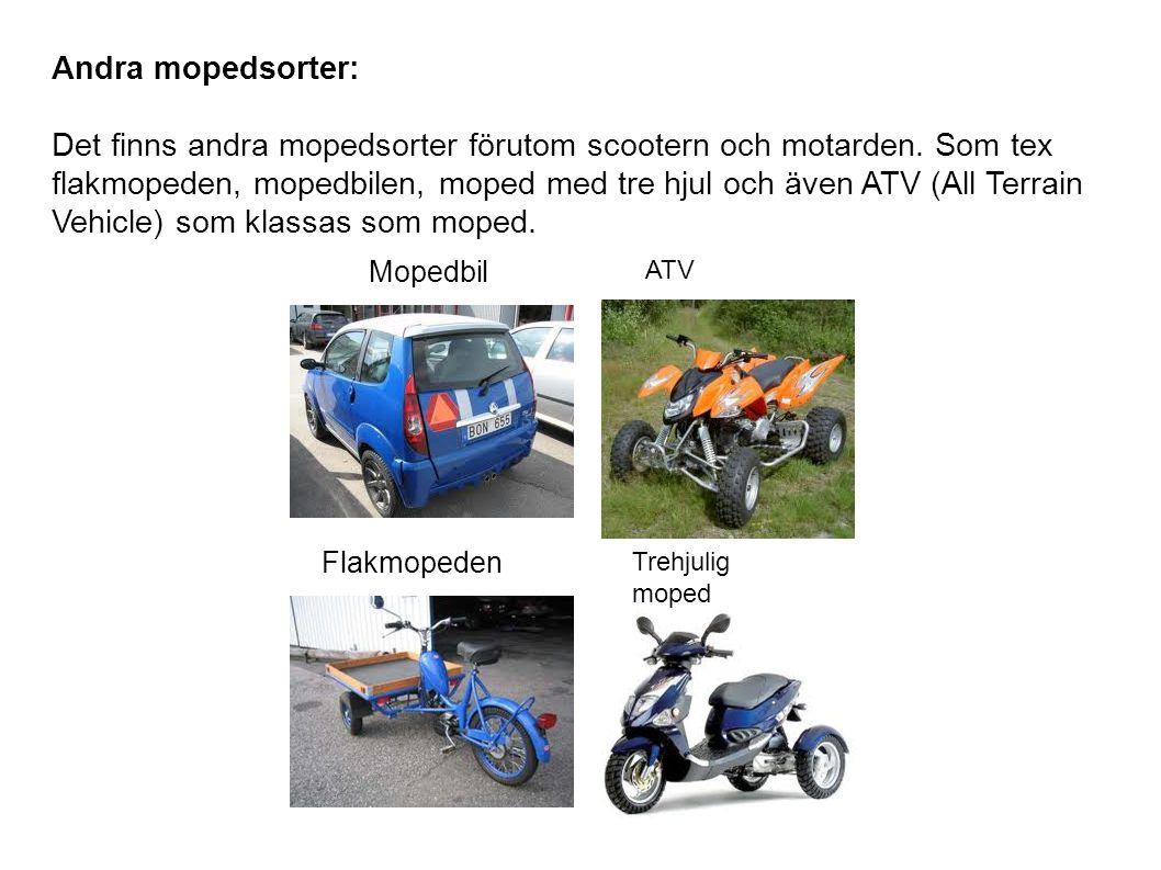 Andra mopedsorter: